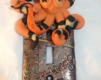 Steampunk Glow in the Dark Octopus Light Switch Cover