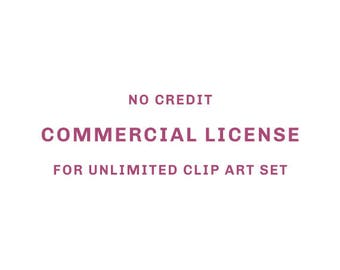 No Credit Commercial License For Unlimited Clip