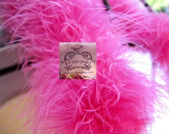 Rosy Hot Pink Marabou Boa Feathers