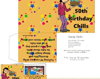 DIGITAL PRINTABLE 50th Birthday Candy Chills