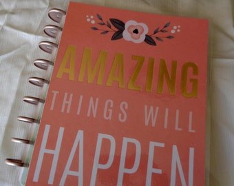 Amazing Planner Cover For Use Happy Planner Gold Foil Floral