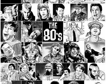 The 80's - 11x15 Illustration Print