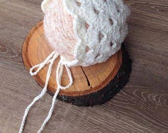 Newborn Hat Knit Pixie Bonnet Newborn hat Photo prop Baby Beanie hat Christening