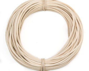 Rawhide Round Leather Cord 2mm, 25 meters (27 yards)