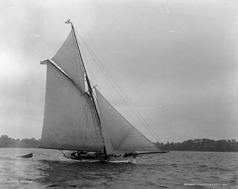 Yacht Marjorie - copy of vintage photograph from c1900