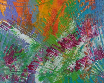 Incandescent 30 x 60 painting abstract, contemporary
