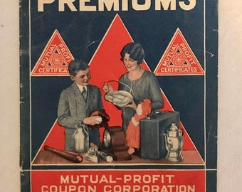 Mutual Profit Coupon Corporation Catalogue 1920's