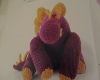 Handmade Knitted Stegosaurus Dinosaur, Part Of The Prehistoric Collection (New, Made To Order) 3+