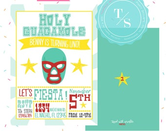 Nacho Libre Party Invitation DIGITAL