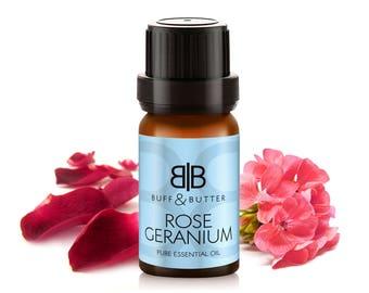 ROSE GERANIUM Essential Oil 100% Pure Natural Fragrance Aromatherapy - 10ml, 30ml, 50ml, 100ml Bottle