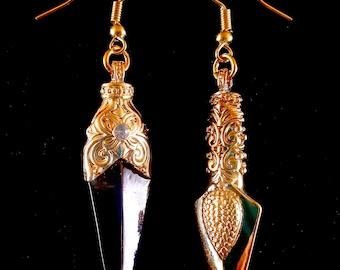 Gold Daggar Earrings