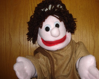 Bibllical boy shepherd Bible  hand puppet  moveable mouth arm rods adult size Vacation Bible School