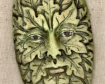 Porcelain Greenman Pendant