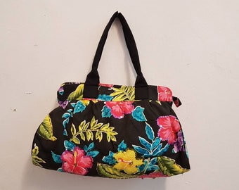 Canvas Printed Botanical Bag