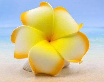 Beach Hair Clip, 3 inch,  Floral Hair Clips, Hawaii Hair Clips, Foam Flowers