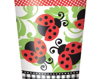Garden Lively Ladybugs Paper Cups 8ct