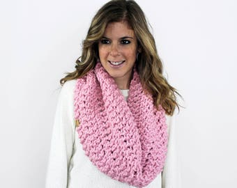 Knit Scarf, Chunky Knitted Cowl Scarves Blossom- Anacostia Cowl