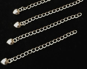Sterling Silver 55x3mm Extender Chain 2PC 10PC Jewellery Making