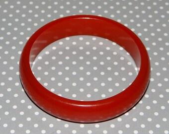 Red Bakelite Bracelet Vintage