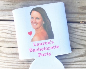 Custom Can Cooler, Bachelorette Party Favor, Wedding Can Cooler, Personalized Bottle Insulator, Personalized Can Cooler, Drink Cooler