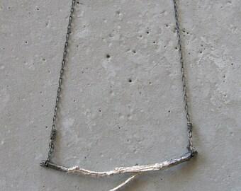 branch jewelry, branch necklace, branch, silver necklace, necklace, handmade necklace, silver jewelry, sterling silver, handmade
