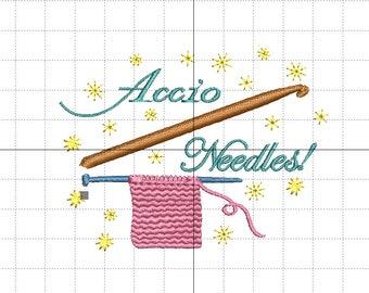 """Stickdatei """"Accio Needles!"""""""