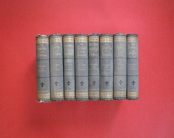 Antique 8 Volume Book Set - The Chronicles Of The Schonberg-Cotta Family, 1868