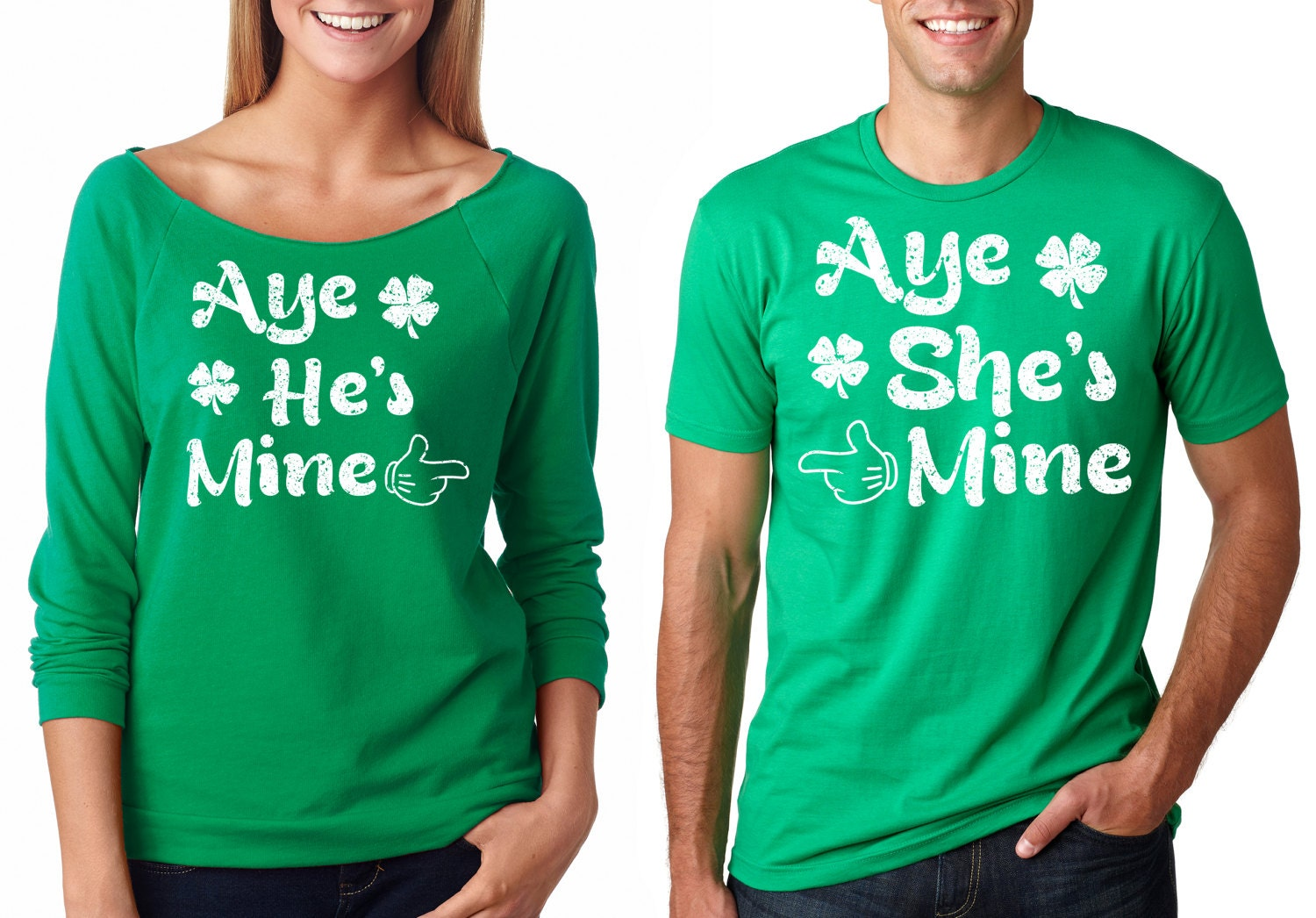 I'm Hers and He's Mine Matching Coule Tees with Skulls - Valentine's Couple Matching Tee - Perfect Valentine's gift FGyKIWk