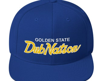 Golden Stated Dub Nation Snapback Hat