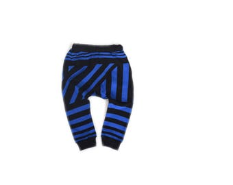 Black and Blue Kids Harem Pants - Baby Toddler Harem pants