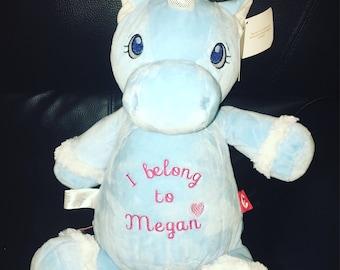 Personalised blue unicorn