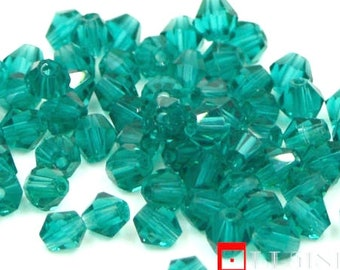 4mm bicone glass beads
