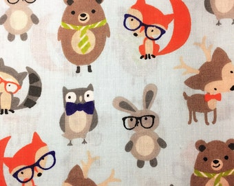 Fabric Remnant - Woodland Creature Fabric