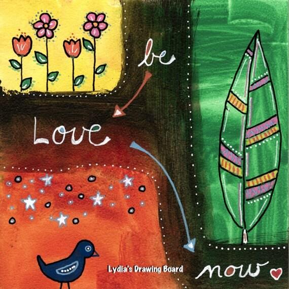 Art Prints, Bird Art, Bird Artwork, Bird Art Print, Love Art, Love Art Print, Flower Art, Flower Art Print, Feather Art, Inspirational Art