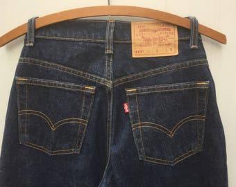 Levi's 517 Bootcut Low Rise Denim Rigid Jeans Vintage 90s Women JR