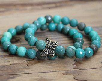 Agate bracelet butterfly bracelet butterfly jewelry bracelet beaded bracelet butterfly beads