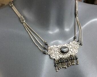 Antique necklace 925 Silver necklace Hematite SK496
