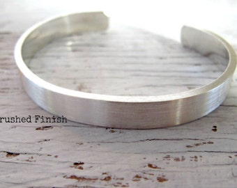 Men's Cuff Bracelet, Father's Gift, Personalized, Sterling Silver, Hand Stamped,  Secret Message, Father's Day Gift, Anniversary Gift