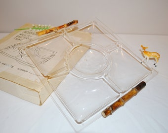 Tiki and Mod Sectioned Serving Tray