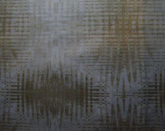 nature's beige patchwork etchings of benartex fabric