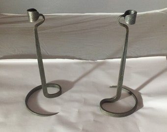 L. Cloutier Wrought Iron Candle Holder