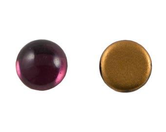 Preciosa Amethyst Purple Glass Cabochons 13mm (4) cab2006D