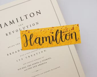 Hamilton bookmark
