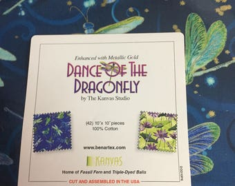 """Dance of the Dragonfly 10"""" x 10"""" pieces"""