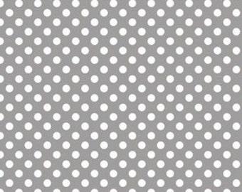 Gray Small Dots Fabric from Riley Blake Designs - Grey Dots - by the Yard - 1 Yard - C350-40