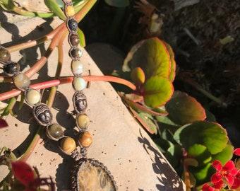 Beautiful Golden Kyanite Adjustable Macrame Pendant