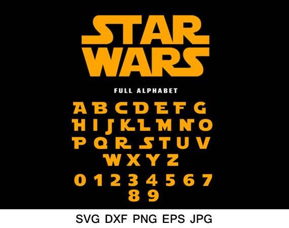 star wars font svg star wars alphabet svg silhouette font