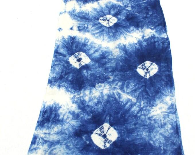 Japanese Shibori. Vintage Indigo Dyed Cotton Fabric. (Ref: 1703)