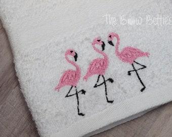 Flamingo Bathroom Decor, Flamingo Hand Towel, Flamingo Themed Home Decor,  Bathroom Towel Set