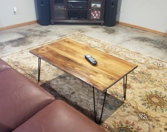 Coffee Table, Rustic, Hairpin Leg, Reclaimed wood, Barn Wood